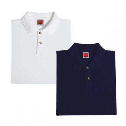 APP0017 Female Honey Comb T-shirt - White & Navy