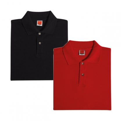 APP0017 Female Honey Comb T-shirt - Black & Red