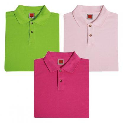 APP0017 Female Honey Comb T-shirt - Lime Green, Pink & Magenta