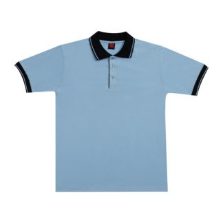 APP0025 Single Jersey T-shirt - Light Blue/Navy