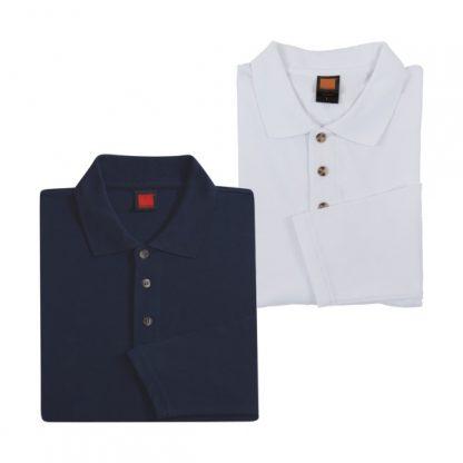 APP0027 Long Sleeve Honey Comb T-shirt - Navy & White