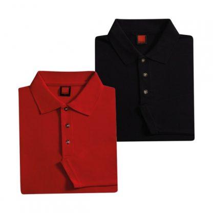 APP0027 Long Sleeve Honey Comb T-shirt - Red & Black