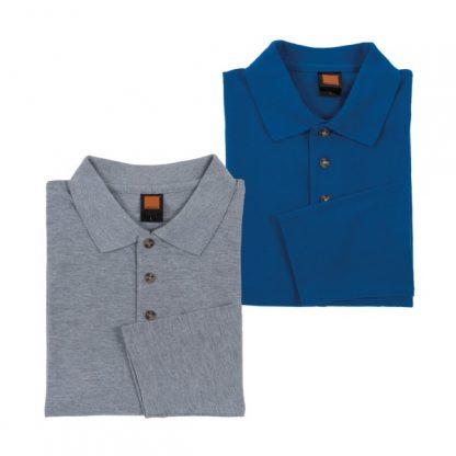 APP0027 Long Sleeve Honey Comb T-shirt - Ash Grey & Royal