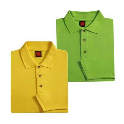 APP0027 Long Sleeve Honey Comb T-shirt - Golden Yellow & Lime Green