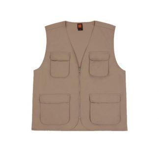 APP0165 Khaki Canvas Vest