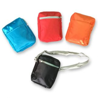 BG0283 Micro-fibre Sling Travel Pouch with 2 Compartments