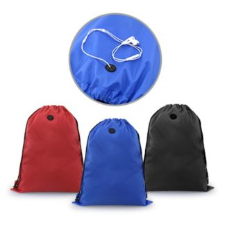 BG0755 Drawstring Bag with Ear Pieces Eyelet