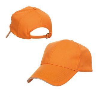CAP0031 Baseball 6-Panel Cap - Orange (S/White)