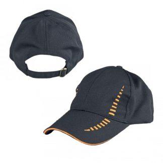CAP0040 Baseball 6-Panel Cap - Black/Orange
