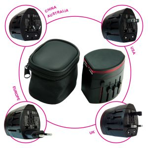 IT0346 Travel Adaptor with Two USB Hub