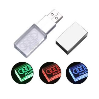 IT0425 Crystal USB Drive with LED Light - 8GB