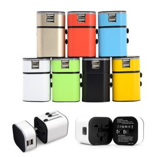 IT0554 Travel Adaptor (LED LOGO) 2 USB Port