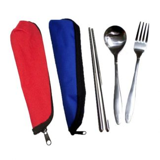 LSP0445 Chopstick with Fork & Spoon in Pouch