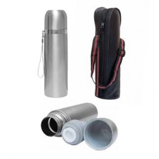 MGS0548 Vacuum Flask with PU Pouch – 500ml