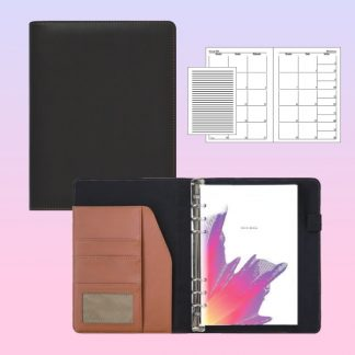 ORN0027 Note Book Ringed PU Cover with White Woodfree