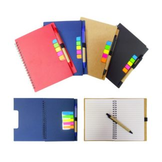 STA0624 A5 ECO Notebook with Pet Sticky Tab & Pen
