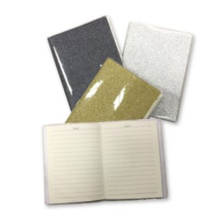 STA0626 Shimmering A6 Notebook with PVC Cover