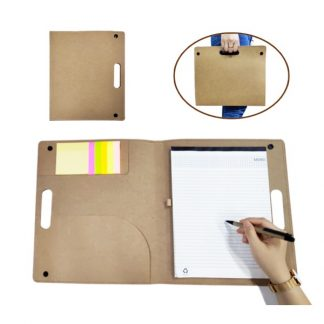 STA0629 Recycled Conference Folder with Notepad, Sticky Notes & Pen