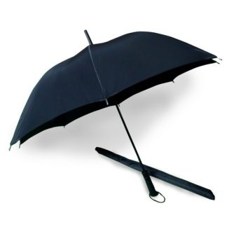 "UMB0003 24"" Black Straight Handle and Tip Umbrella"
