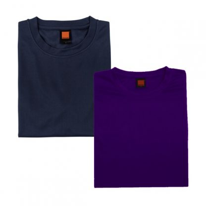 APP0044 Quick Dry Round Neck T-shirt - Navy Pro & Ultra Violet
