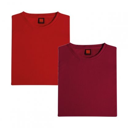 APP0044 Quick Dry Round Neck T-shirt - Red & Maroon