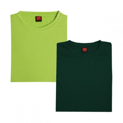 APP0044 Quick Dry Round Neck T-shirt - Lime Green & Forest Green