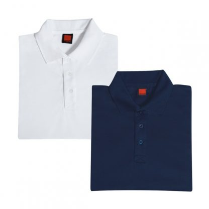 APP0045 Quick Dry Polo T-shirt - White & Navy