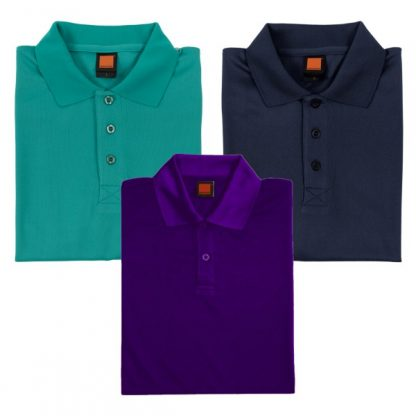 APP0045 Quick Dry Polo T-shirt - Emerald, Navy Pro & Ultra Violet