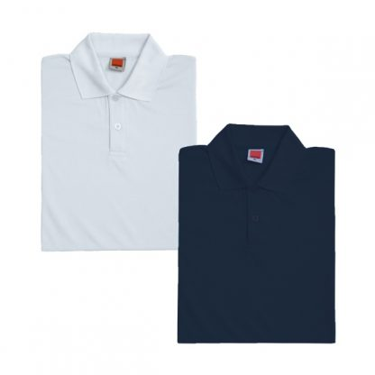 APP0045 Quick Dry Female Polo T-shirt - White & Navy
