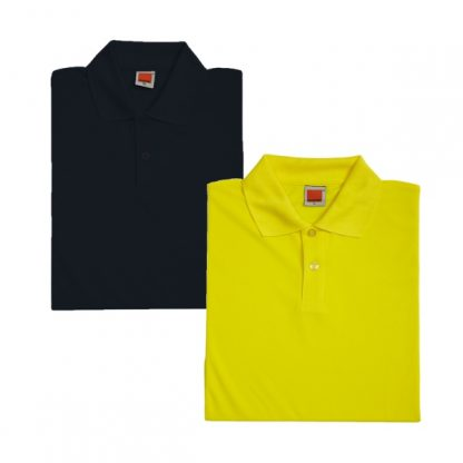 APP0045 Quick Dry Female Polo T-shirt - Black & Yellow