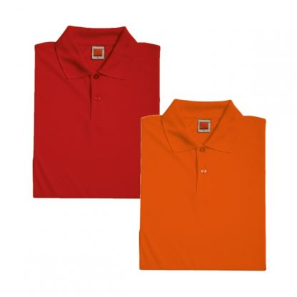 APP0045 Quick Dry Female Polo T-shirt - Red & Orange
