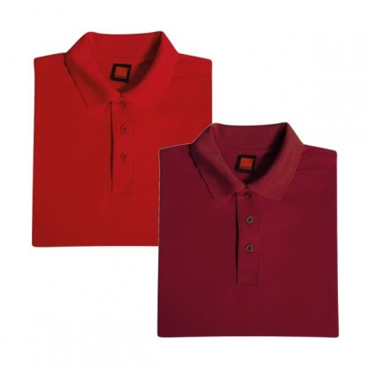 APP0045 Quick Dry Polo T-shirt - Red & Maroon