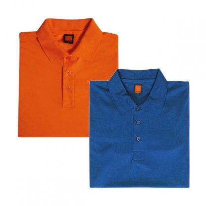 APP0045 Quick Dry Polo T-shirt - Orange & Royal