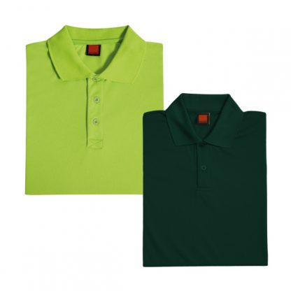 APP0045 Quick Dry Polo T-shirt - Lime Green & Forest Green