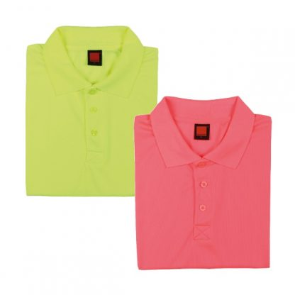 APP0045 Quick Dry Polo T-shirt - Neon Yellow & Neon Peach