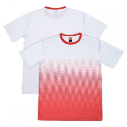 APP0118 Quick Dry Sublimation Printing Round Neck T-shirt - White/Red