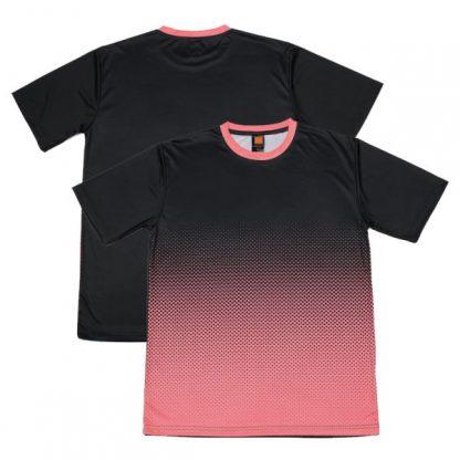 APP0118 Quick Dry Sublimation Printing Round Neck T-shirt - Black/Peach