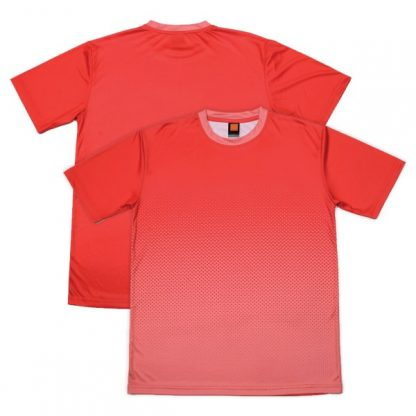 APP0118 Quick Dry Sublimation Printing Round Neck T-shirt - Red/Peach
