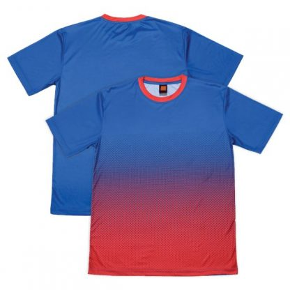 APP0118 Quick Dry Round Sublimation Printing Neck T-shirt - Royal/Red