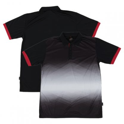 APP0120 Quick Dry Sublimation Printing Round Neck T-shirt - Black/Red