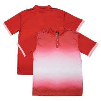 APP0120 Quick Dry Sublimation Printing Round Neck T-shirt - Red/Pink