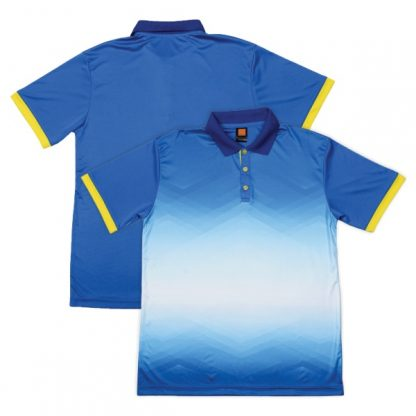 APP0120 Quick Dry Sublimation Printing Round Neck T-shirt - Royal/Yellow