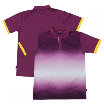 APP0120 Quick Dry Sublimation Printing Round Neck T-shirt - Dark Purple/Yellow