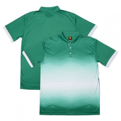 APP0120 Quick Dry Sublimation Printing Round Neck T-shirt - Milo Green/White