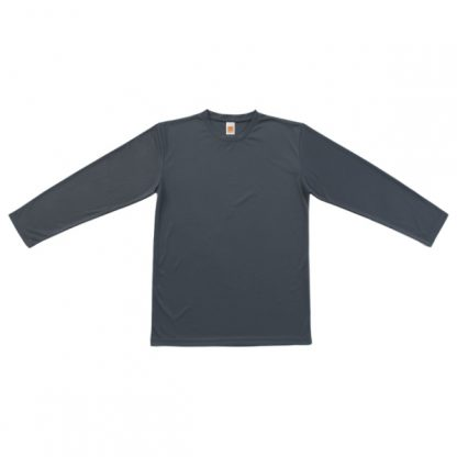 APP0144 Quick Dry Round Neck Long Sleeve T-shirt - Dark Grey