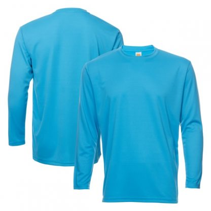 APP0144 Quick Dry Round Neck Long Sleeve T-shirt - Sea Blue