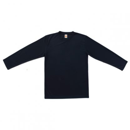 APP0144 Quick Dry Round Neck Long Sleeve T-shirt - Navy