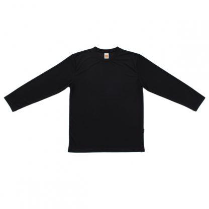 APP0144 Quick Dry Round Neck Long Sleeve T-shirt - Black