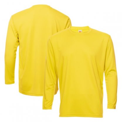 APP0144 Quick Dry Round Neck Long Sleeve T-shirt - Yellow