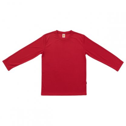 APP0144 Quick Dry Round Neck Long Sleeve T-shirt - Red